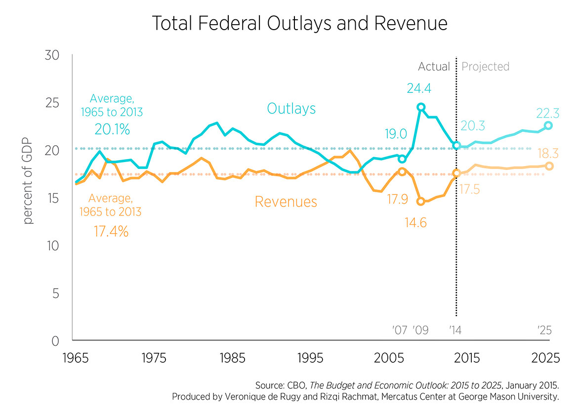 what causes government budget deficit
