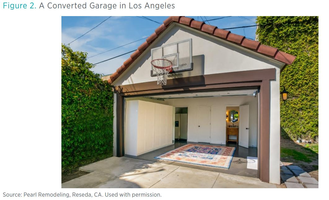 Figure 2. A Converted Garage in Los Angeles  Source: Pearl Remodeling, Reseda, CA. Used with permission.