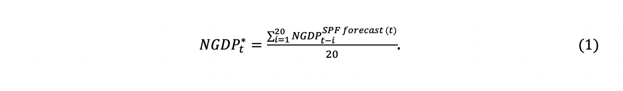 Formula for the neutral level of NGDP